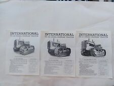 INTERNATIONAL HARVESTER COMPANY DIESEL CRAWLER TRACTOR PAMPHLETS TD- 14A 18A 24