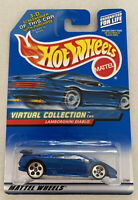 2000 Hotwheels Lamborghini Diablo Blue Vintage Mint! MOC! Very Rare!