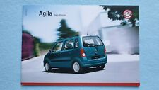 Vauxhall Agila Expression Enjoy Design brochure catalogue February 2007 MINT B