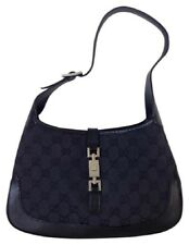 GUCCI vintage GG logo black Jackie O handbag bag hobo - authentic