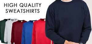 PLAIN NO TEXT Casual SWEATSHIRT Jumper Workwear Uniform Clothing Unisex Crew P
