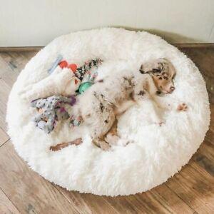 Dog Bed Long Plush Dount Basket Calming Cat Beds Hondenmand Pet Kennel House