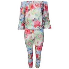 Plus Size Floral 3/4 Sleeve Jumpsuits & Playsuits Pattern for Women