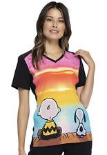 Charlie Brown & Snoopy Cherokee Scrubs Tooniforms Peanuts V Neck Top Tf637 Pntc