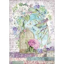 Stamperia Rice Paper HORTENSIA - CAGE A4 Sheet DFSA4472 Decoupage/Journal