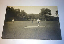 Antique Baseball Game Old Man Pitching, Workers C.1910 Real Photo Postcard RPPC!