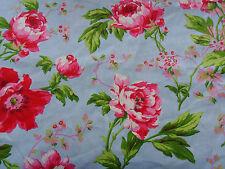 Tessuto STOFFA coupon ARREDAMENTO ROSE PATCHWORK florales pattern COTONE 50cmx140cm