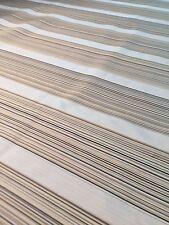 "Lovely Cream White Striped Black Gold Gray Drapery Fabric 3 Ydsx47""W Silk Blend"