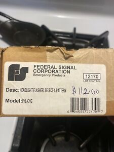 New in Box-Federal Signal FHL-CHG Police Car Headlight Flasher Charger