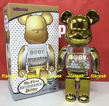 Medicom Toy Plus Be@rbrick My First Baby 400% Gold & Silver Bearbrick 1pc