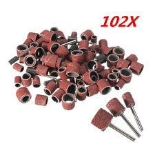 100 pcs rotary dremel tool sanding accessory kit 1/2 3/8 1/4 inch