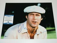 CHEVY CHASE SIGNED 'CADDYSHACK' 11X14 MOVIE PHOTO BECKETT COA SNL ACTOR