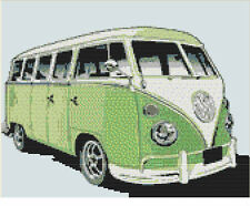 CROSS STITCH KIT -  CAMPER VAN   30CM X 21 CM