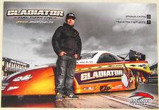 "EUROPEAN ISSUE ""GLADIATOR"" TOP FUEL DODGE STRATUS FUNNY CAR DRAG RACING HANDOUT!"