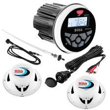 Boss Audio Marine Stereo 240 W MGR350B - Antenna FM - Casse 150W - Cavo USB RCA