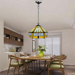 New Tiffany Style Glass Side Light Pendant Lamp single Bulb glass shade UK