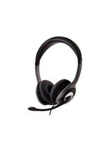 V7 HU521-2EP Wired Over-the-head, On-ear Stereo Headset - Black, Grey -