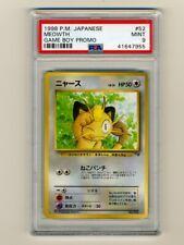 Pokemon PSA 9 MINT Meowth Coro Coro Game Boy Japanese Promo Card 1998