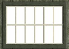 LC05b - Laser cut Large Shed Windows O scale pk of 1 Smart Models