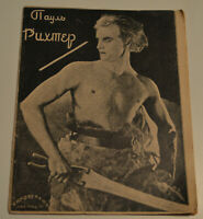1927 Rare Paul Richter German movie star Avant-Garde Brochure lithography