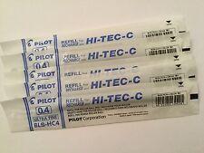 PILOT HI-TEC-C GEL PEN REFILL 0.4mm (5 blue)