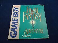 Final Fantasy Adventure Nintendo Game Boy Instruction Manual Booklet ONLY