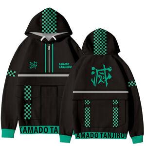 Cosplay Demon Slayer Kamado Tanjirou Hoodie Sweater Hooded Sweatshirt Costume