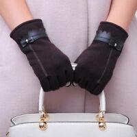 EG_ Women Elegant Bowknot Winter Warm Gloves Touch Screen Full Finger Mittens La