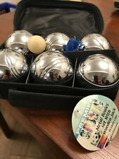 Boules Metal With Wooden Jack Premier Sports