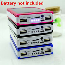 Portable 300000mAh 20 LED Solar Power Bank Case Dual USB Battery Charger Tool