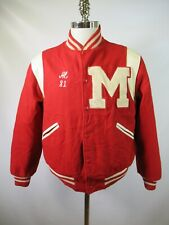 E6282 Vtg Trophy High School Letterman Varsity Jacket Size M