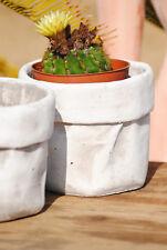 Übertöpfe,rund,Keramik,zement-grau,4er Set,12cm