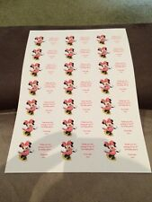 21 Minnie Mouse Personalised Party Bag Stickers Favour Labels