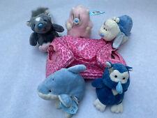 5 Blue Nose Friends Soft Toys And Carry Bag