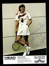 Silviy Hanika autografiada mapa original firmado tenis + a 124393