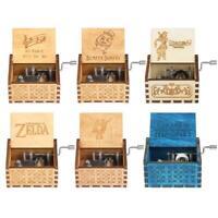 Handkurbel Handarbeit graviert hölzerne Spieluhr Spielzeug Geschenke SammlungBox