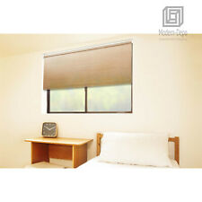 Cordless Roller Window Shades, Motorized-Remote, Natural Woven for Home Use