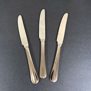 """Choice 3 or 4 Dinner Knives Wallace Baguette Stainless 18/10 French Solid 8 7/8"""""""