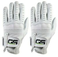 GS Golf Glove 2 Pack Premium New 100% Men's Cabretta Leather Left and Right Han