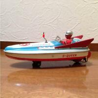 VINTAGE TIN TOY JAPAN YONEZAWA TOY BOAT SHIP MOTOR WIND UP RARE COLLECTIBLE F/S