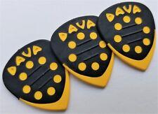 DAVA Control Grip Tip Guitar PICKS 3 PICKS Yellow