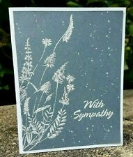 Handmade Stampin Up WITH SYMPATHY Greeting CARD KIT 4 Cards/Envelopes
