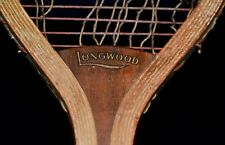 Vintage Wood 1905 Wright & Ditson LONGWOOD Tennis Racket *Long Narrow Oval*