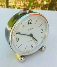 Vintage Mechanical Alarm Clock Slava 11 Jewels Russian Russia Soviet USSR Rare