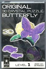 Bepuzzled BUTTERFLY 3D Crystal Jigsaw Puzzle 38 pc