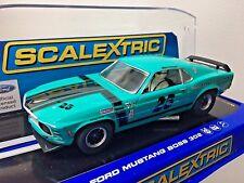 1 32 SCALEXTRIC C3318 DISCT'D AQUA Ford Mustang BOSS 302 TRANS AM slot car