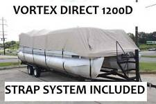 NEW VORTEX SUPER HEAVY DUTY BEIGE 1200D 22 FT ULTRA 4 PONTOON/DECK BOAT COVER