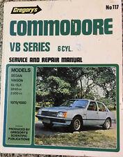 COMMODORE VB SERIES 6CYL.  Service & Repair Manual Gregory's No 117