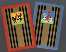 Playing  SWAP Cards 2 VINT  DECO  DELUXE  HUNTING HORSES DOGS RIDERS 567