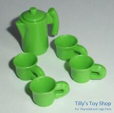 Playmobil          Dollshouse/Cafe/Shop Extras - Coffee/Tea pot & Cups x 4 - NEW